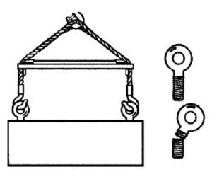 Useful Guidelines For The Rigger Diagram - Attach Eye Bolt