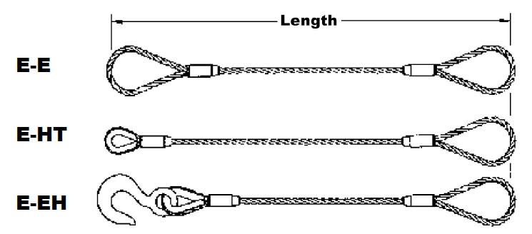 Flemish Eye Slice Wire Rope Slings