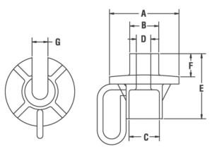 "Model PC—""Tea Cup"" Pipe Carrier Diagram"