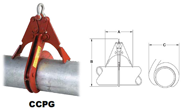 Clamp-Co Pipe Grabs (Crosby) Diagram