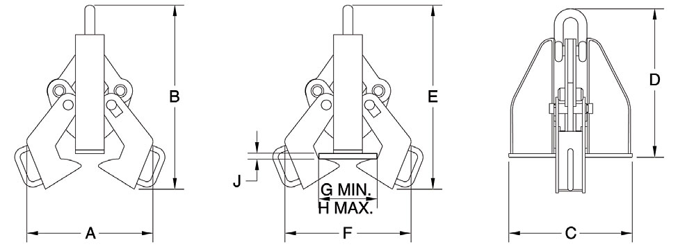 Clamp-Co Beam Clamps (Crosby) Diagram