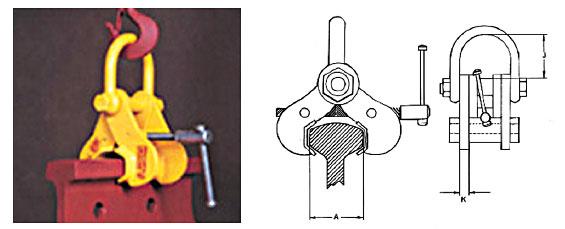 Adjustable Universal Rail Lifting Clamps (SuperClamp) Diagram