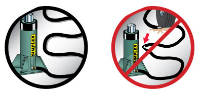 15. Keep Hydraulic Hoses Free Of Obstructions.