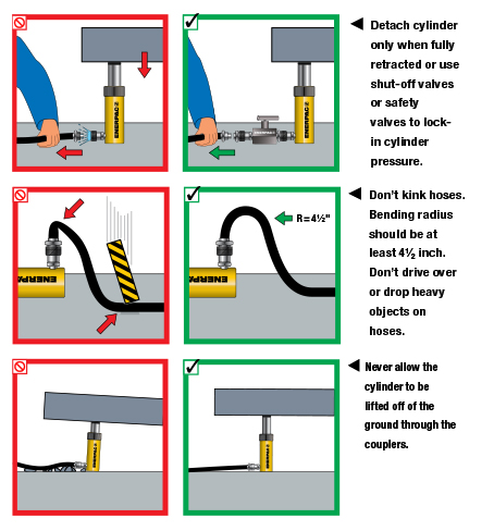 Enerpac Hydraulics Safety Instructions 10