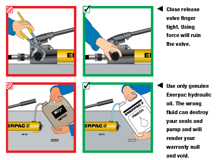 Enerpac Hydraulics Safety Instructions 8