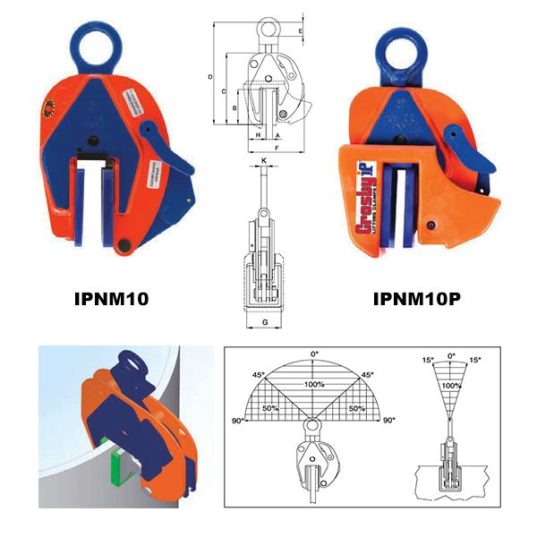 IPNM10 Vertical Clamps (Crosby) Diagram