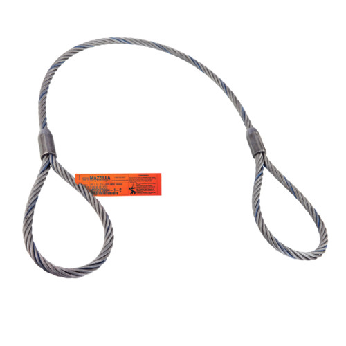 Mazzella Single-Part Mechanically Spliced Wire Rope Sling