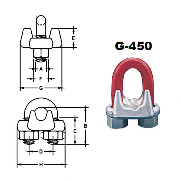 G-450 Forged Wire Rope Clips