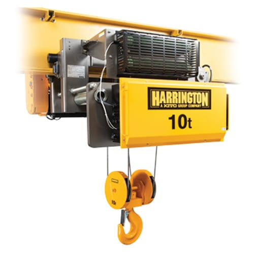 Harrington RY Series Electric Wire Rope 10-Ton Hoist