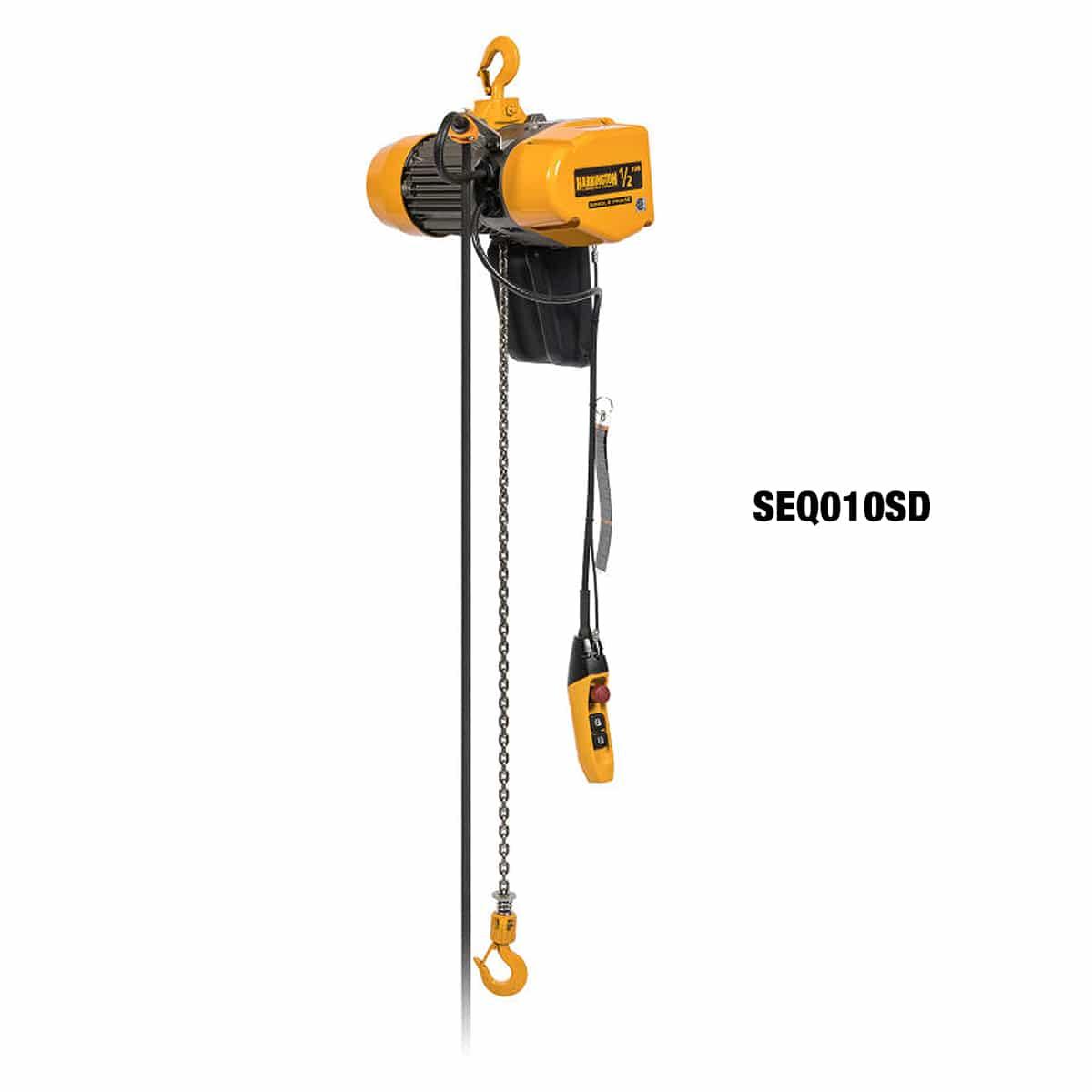 Harrington SEQ Single-Phase Dual Speed Electric Chain Hoist
