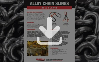 Alloy Chain Slings At A Glance Guide