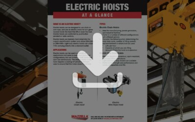 Electric Hoists At A Glance Guide