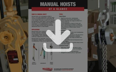 Manual Hoists At A Glance Guide