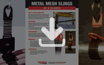 Metal Mesh Slings At A Glance Guide
