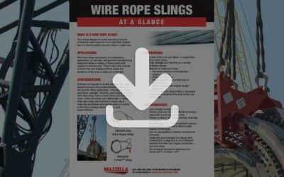 Wire Rope Slings At A Glance Guide