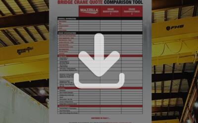 Bridge Crane Quote Comparison Tool: Resource