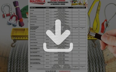 Lifting & Rigging Inspection Frequencies and Records Guide: Resource