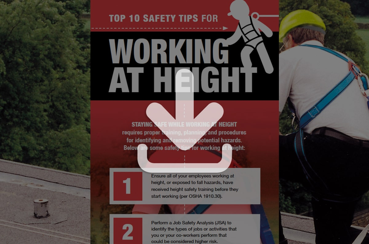 Top 10 Safety Tips for Working at Height [Infographic]