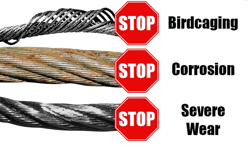 5 Common Problems with Overhead Cranes and How to Avoid Them: Wire Rope Damage