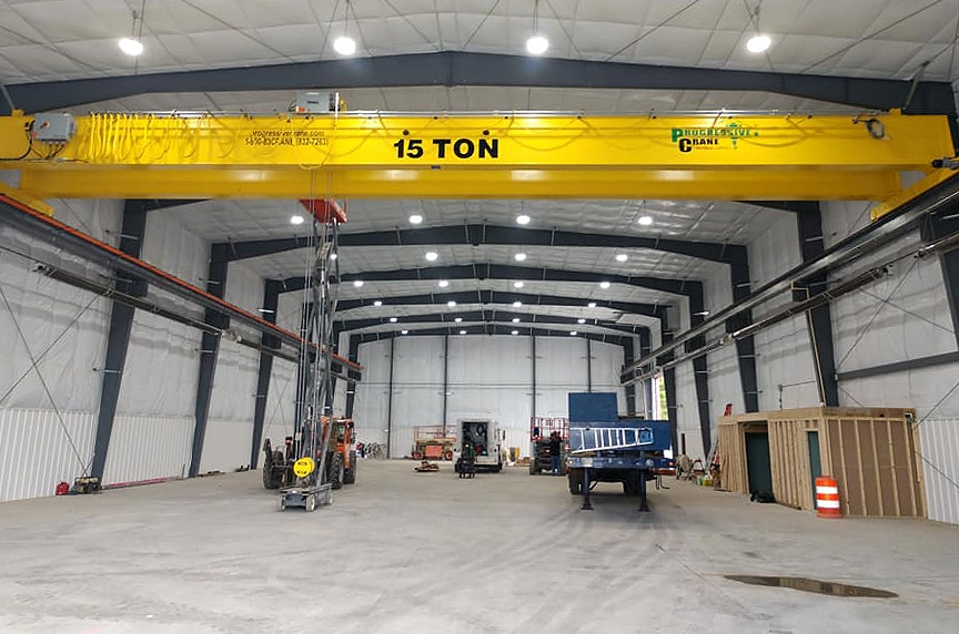 Buying New Vs. Used Overhead Crane: New Overhead Crane In Building