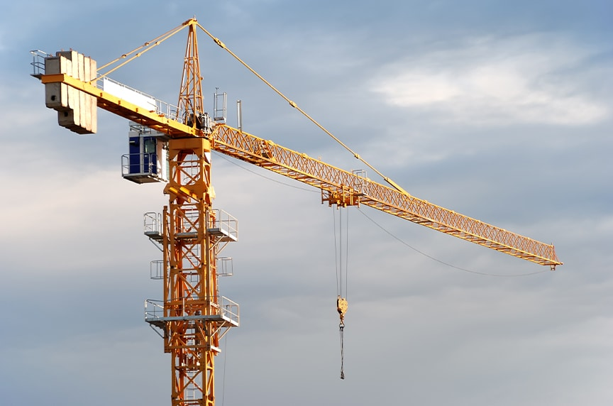 Different Types of Cranes for Construction: Hammerhead Tower Crane with A-Frame
