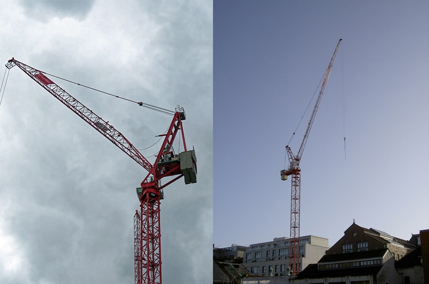 Different Types of Cranes for Construction: Luffing Tower Cranes