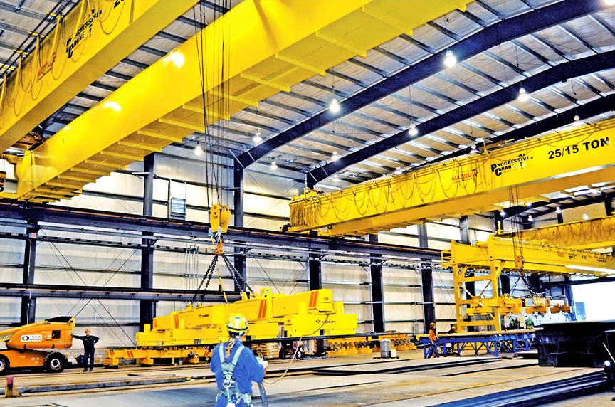 Different Types of Cranes for Construction: Overhead Cranes