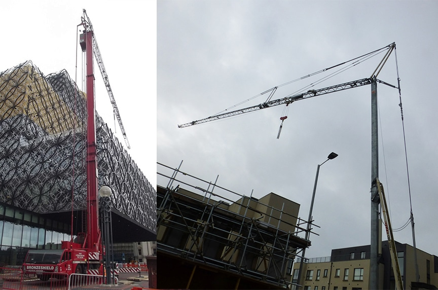 Different Types of Cranes for Construction: Self Erecting Tower Cranes