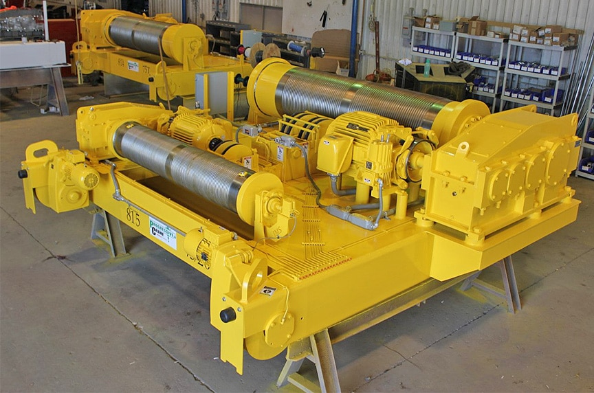 Custom Built Up Hoists vs. Package Hoist Systems for Overhead Cranes: Built Up Hoist 2