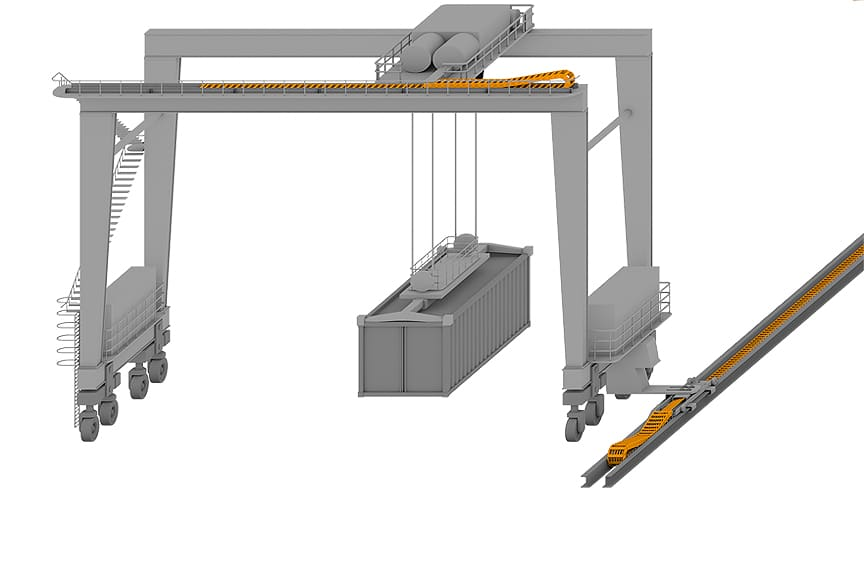Energy Chain: Powering Overhead Cranes in the Harshest Environments: Installed on Gantry Crane