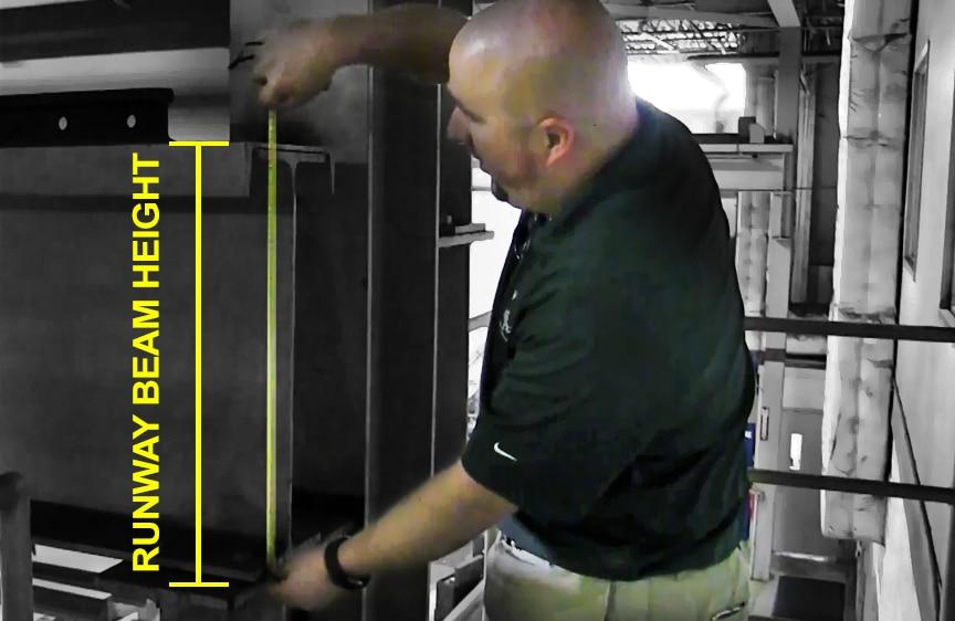 How to Measure Span and Runway Length for an Overhead Bridge Crane: Runway Beam Height