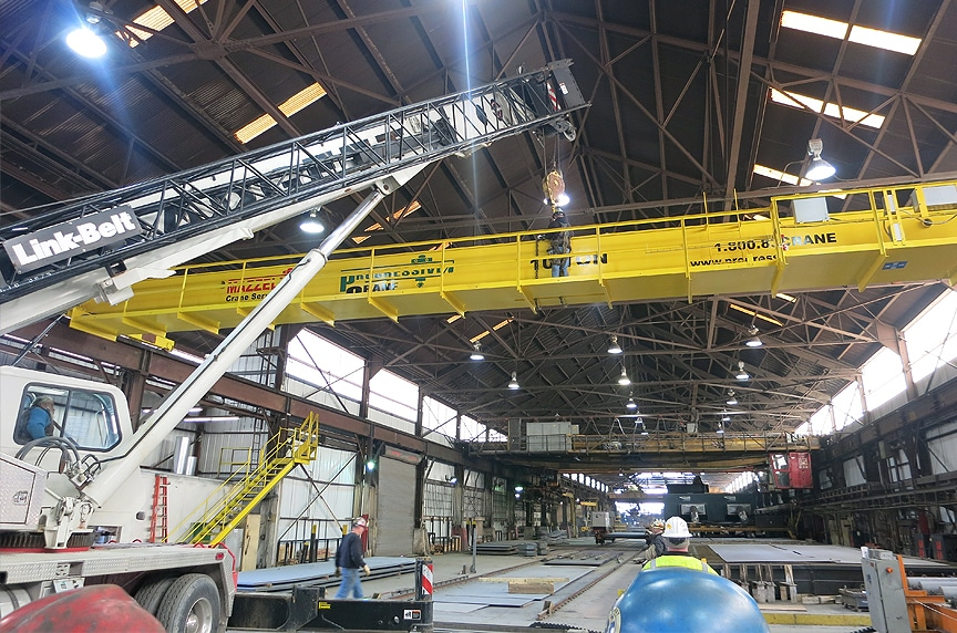 Installing an Overhead Crane in an Existing Building Structure: Crane Installation