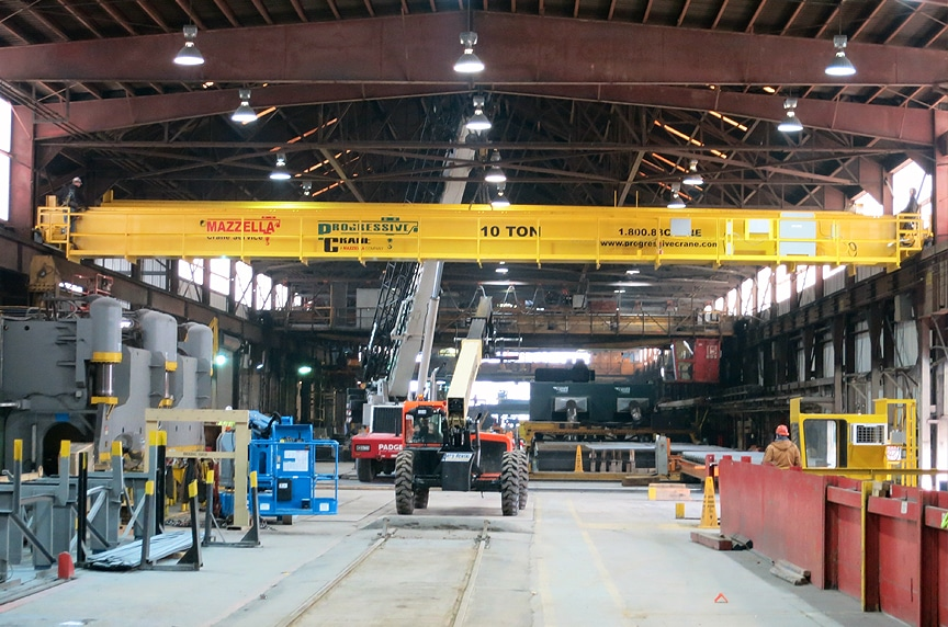 Installing an Overhead Crane in an Existing Building Structure: Crane Installation Near Equipment