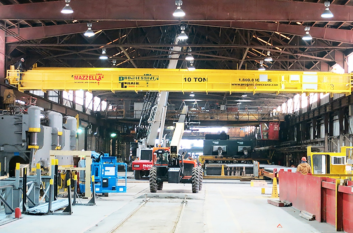 Installing an Overhead Crane in an Existing Building Structure