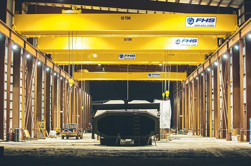 Overhead Cranes: Modular Cranes vs. Engineered Process Cranes: Engineered Process Crane