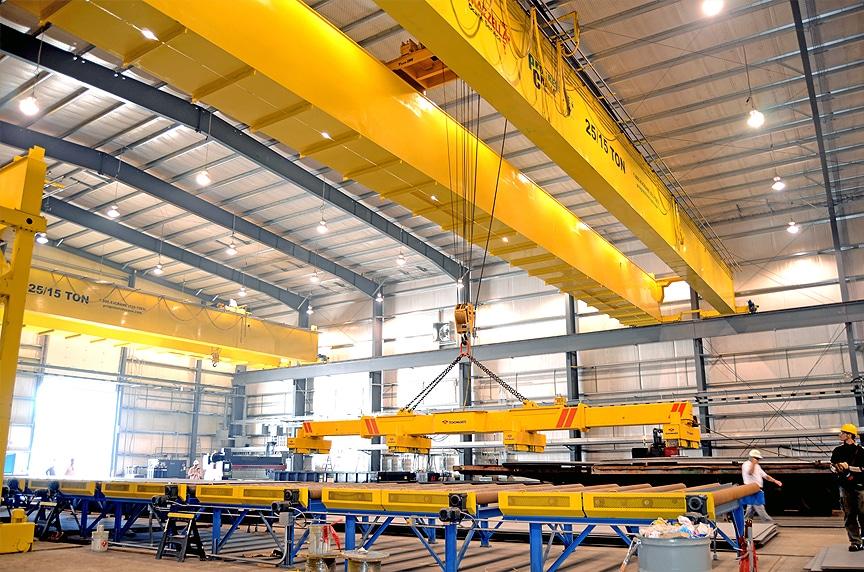 Overhead Bridge Cranes: Single Girder vs. Double Girder Design: Double Girder Crane