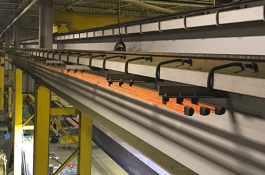 Overhead Crane Electrification: NEC 610.61 Grounding Requirements: 3-Bar Conductor Main