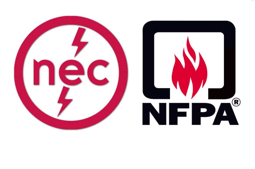 Overhead Crane Electrification: NEC 610.61 Grounding Requirements: NEC NFPA Logo