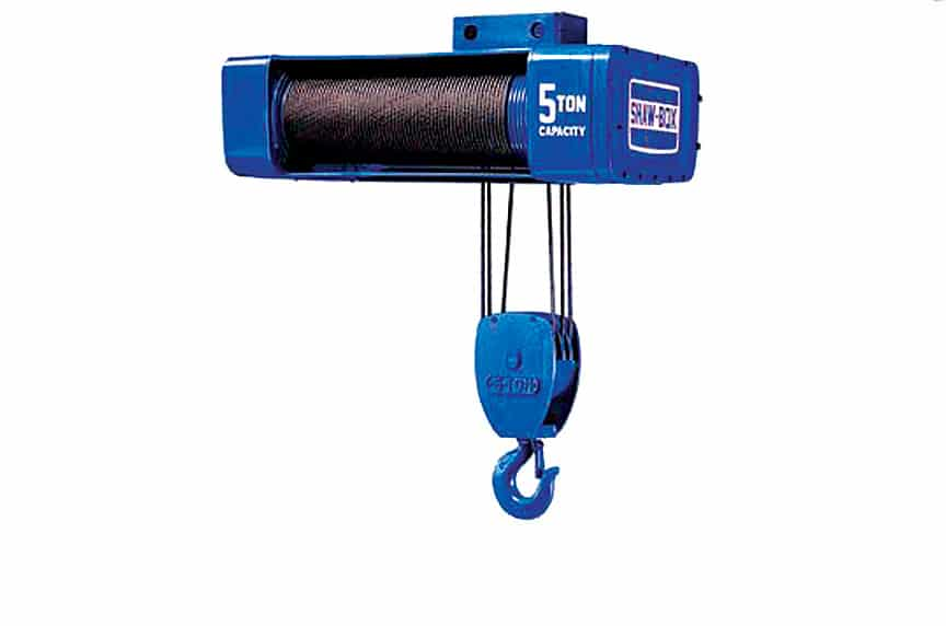 Overhead Crane Hoist Types and Design: Air Wire Rope Hoists