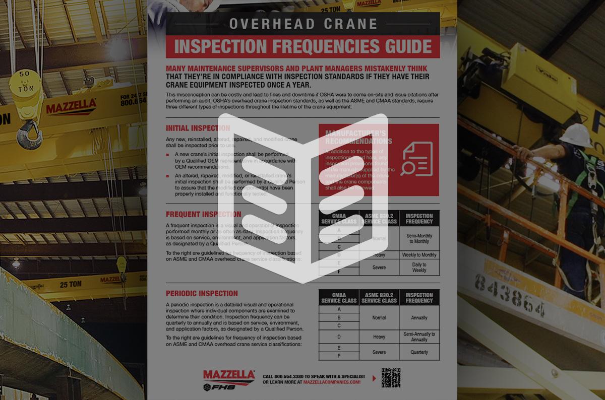 Crane Inspection Frequencies Guide: Literature