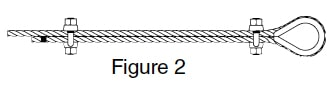 Fist Grip Wire Rope Clip Application Instructions: Figure 2