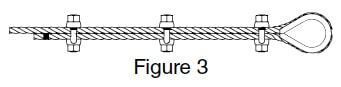 Fist Grip Wire Rope Clip Application Instructions: Figure 3