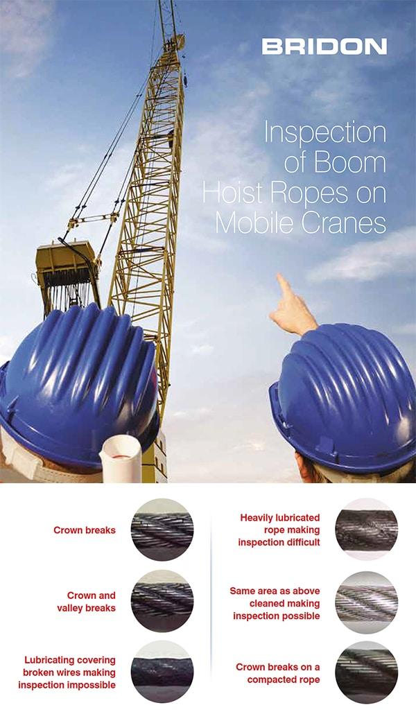 Inspection of Boom Hoist Ropes for Mobile Cranes: Bridon Crane Ropes
