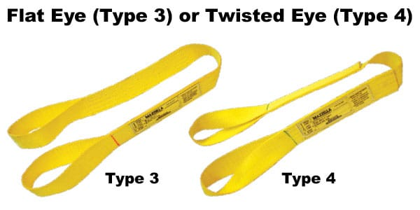 Nylon and Polyester Web Slings: Flat Eye or Twisted Eye Web Slings