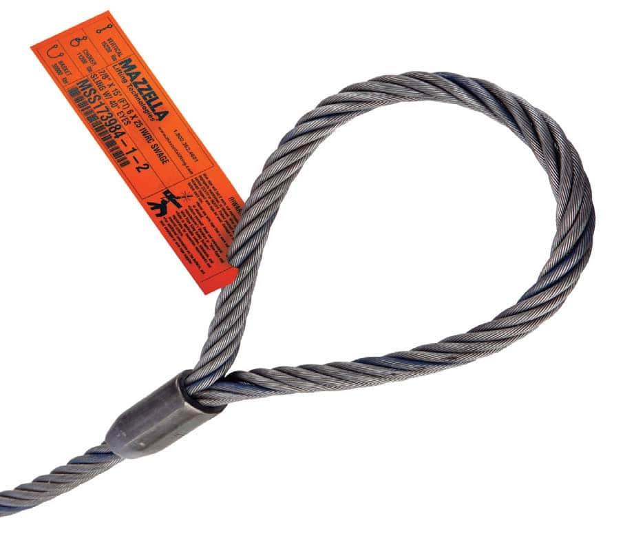 Single-Part Mechanically Spliced Wire Rope Sling: Sling Eye