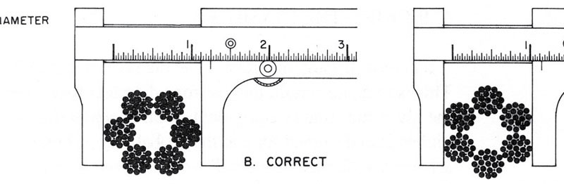 Wire Rope Inspection: How to Measure Actual Diameter