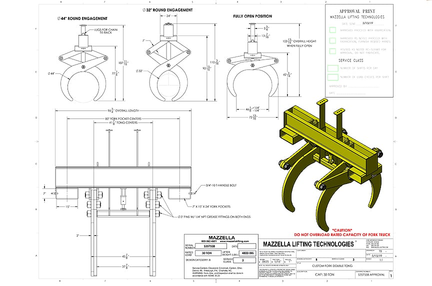 7 Things You Should Know Before Buying a Below-the-Hook Lifting Device: Approval Drawing