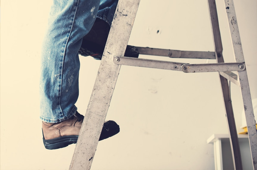 OSHA Ladder Safety Compliance: General Ladder Rules & Requirements: Ladder in Use