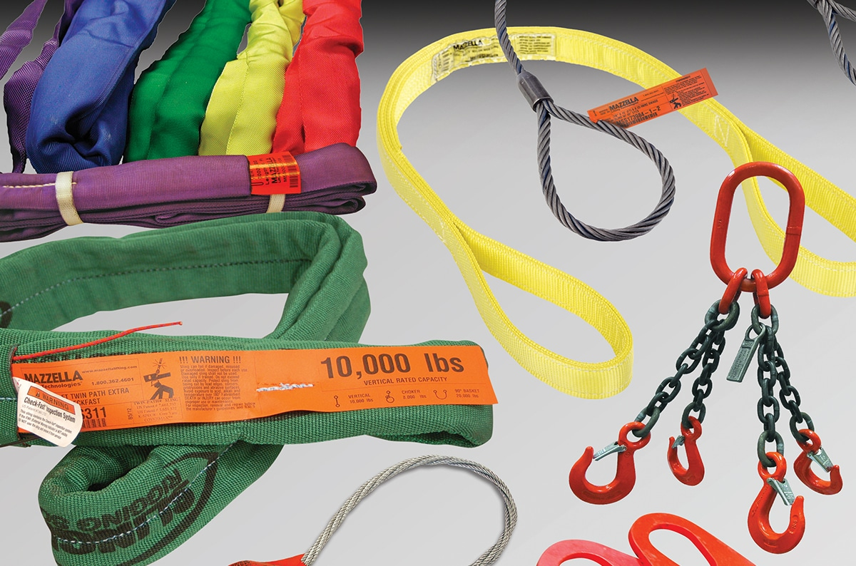 Choosing the Best Lifting Sling: Wire Rope vs. Chain. vs. Synthetics