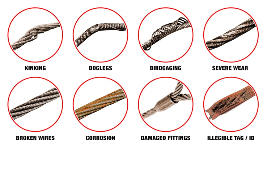 The 6 Most Common Problems Found During a Rigging Inspection: Wire Rope Damage